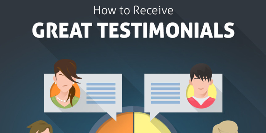 How to Receive Great Customer Testimonials Infographic