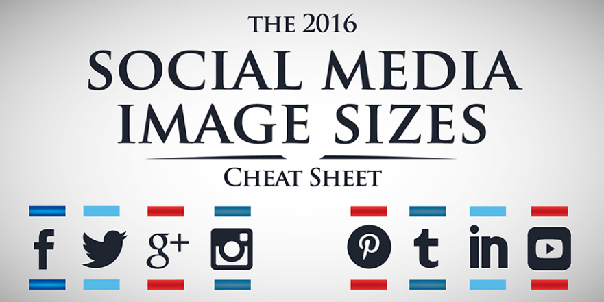 The 2016 Social Media Image Sizes Cheat Sheet #infographic